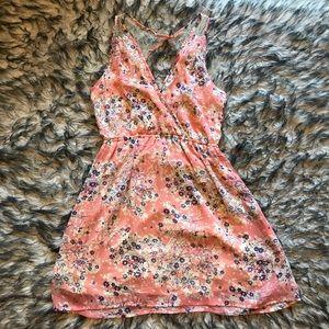 Floral mini dress.